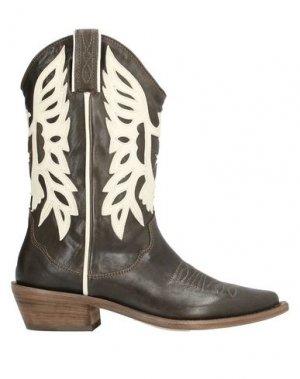 Полусапоги и высокие ботинки P.A.R.O.S.H.. Цвет: темно-коричневый