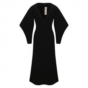 Платье-миди Victoria Beckham. Цвет: чёрный