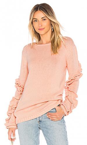 Пуловер flounce Tularosa. Цвет: розовый