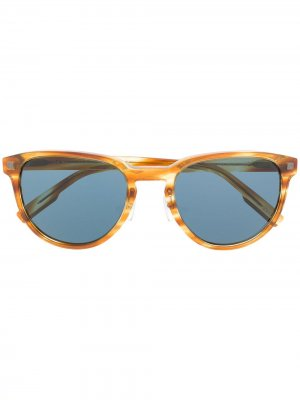 Солнцезащитные очки в круглой оправе Ermenegildo Zegna. Цвет: коричневый