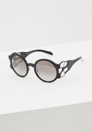 Очки солнцезащитные Prada PR 13US 1AB5O0. Цвет: черный