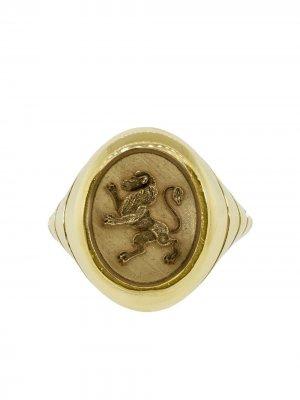 Золотой перстень Lion Grandfather Retrouvaí. Цвет: ylwжелтый