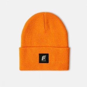 Шапка Fold Beanie Footwork. Цвет: оранжевый
