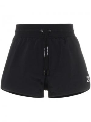 Спортивные шорты с завышенной талией Off-White. Цвет: черный