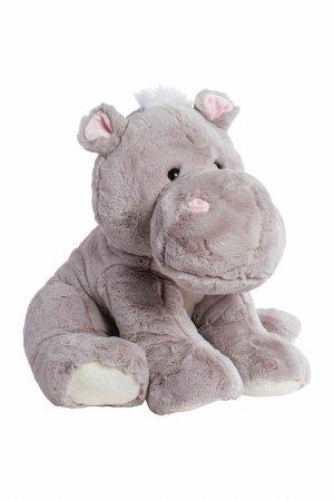Мягкая игрушка Бегемот 60 см MOLLI. Цвет: серый, белый, розовый