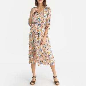 Платье тонкое с цветочным рисунком REESE BA&SH. Цвет: рисунок/белый