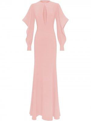Блузка с длинными рукавами Oscar de la Renta. Цвет: розовый