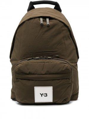Рюкзак с нашивкой-логотипом Y-3. Цвет: зеленый