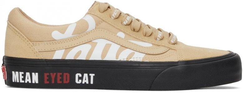 Beige Patta Edition Vault Mean Eyed Cat Old Skool Sneakers Vans. Цвет: almond