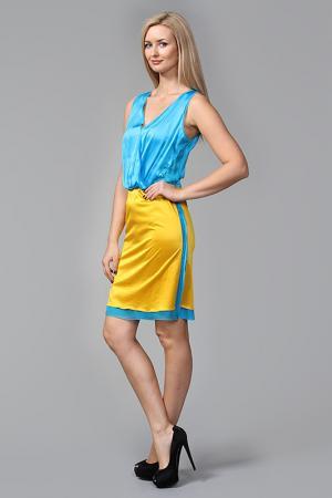 Платье Bottega Veneta. Цвет: бирюзовый