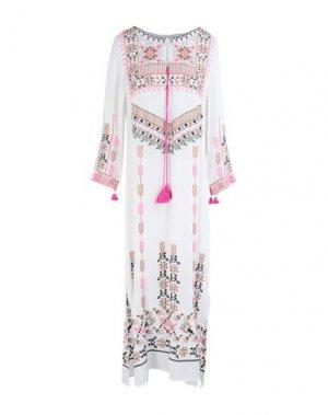 Длинное платье FIGUE. Цвет: белый