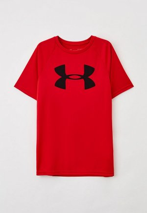 Футболка спортивная Under Armour Tech Big Logo SS. Цвет: красный