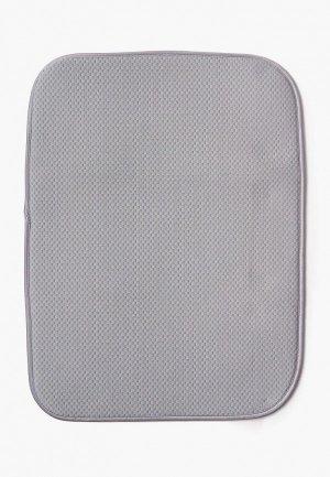 Салфетка сервировочная DeNastia Коврик для сушки посуды DeНАСТИЯ, 38*51 см. Цвет: серый