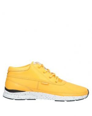 Низкие кеды и кроссовки GOURMET. Цвет: желтый
