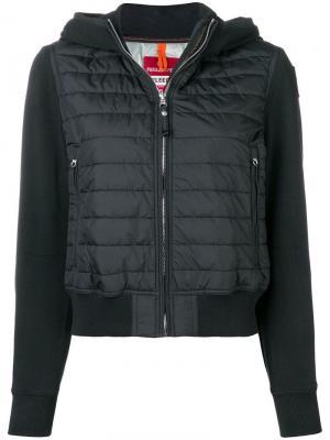 Укороченная утепленная куртка-бомбер Parajumpers. Цвет: черный