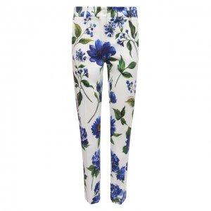 Хлопковые брюки Dolce & Gabbana. Цвет: синий