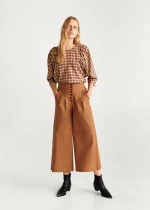Расклешенные брюки из хлопка - Dori-h Mango. Цвет: коричневый