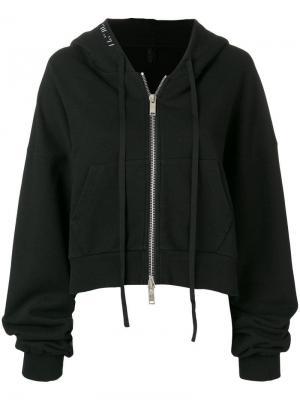 Куртка-бомбер с капюшоном Unravel Project. Цвет: черный