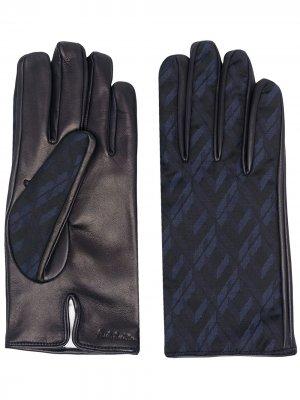 Перчатки со вставками Paul Smith. Цвет: синий