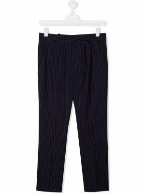 Полосатые брюки строгого кроя Harmont & Blaine Junior. Цвет: синий