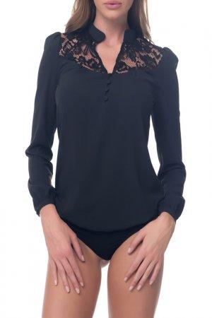 Блуза-боди Arefeva. Цвет: черный, графитовый