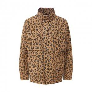 Куртка Frame Denim. Цвет: леопардовый