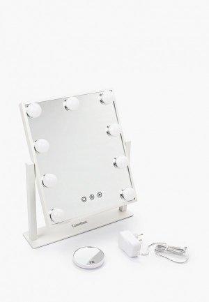 Зеркало настольное Camelion M283-DL C01, со светодиодной подсветкой, 36х30 см. Цвет: белый