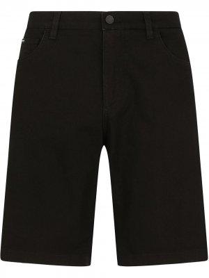 Джинсовые шорты Dolce & Gabbana. Цвет: черный