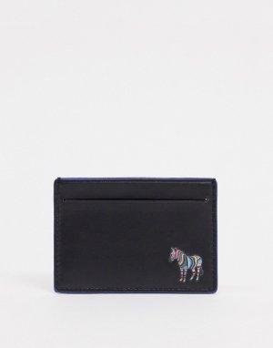 Черная кожаная кредитница с логотипом -Черный PS Paul Smith