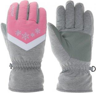 Перчатки для девочек , размер 5,5 Ziener. Цвет: серый