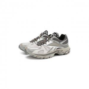 Текстильные кроссовки X Reebok Spike Runner 200 Vetements. Цвет: серый