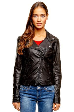 Кожаная куртка Denim 372072900712999 TOM TAILOR. Цвет: черный