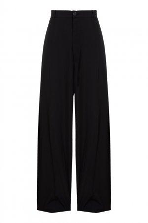 Прямые черные брюки Balenciaga. Цвет: черный