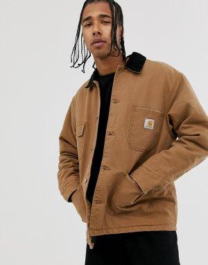Коричневая куртка из органического хлопка OG Chore-Коричневый Carhartt WIP