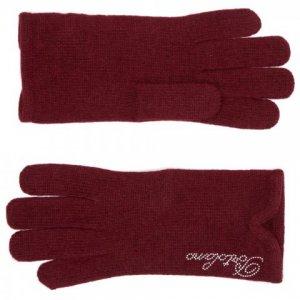 Перчатки Portolano. Цвет: бордовый