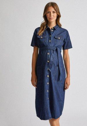 Платье джинсовое Dorothy Perkins Maternity. Цвет: синий