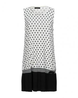 Короткое платье ALJSSA. Цвет: белый