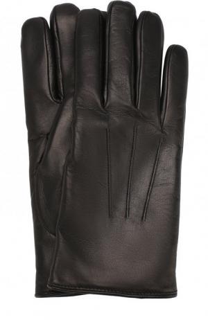 Кожаные перчатки Brioni. Цвет: чёрный