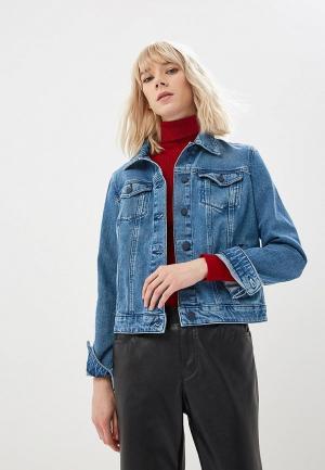 Куртка джинсовая Boss Hugo. Цвет: синий