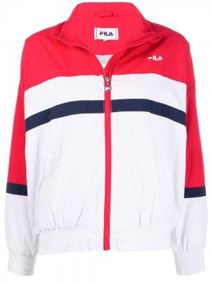 Куртка в стиле колор-блок Fila. Цвет: белый