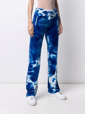 Спортивные брюки с принтом тай-дай Juicy Couture. Цвет: синий