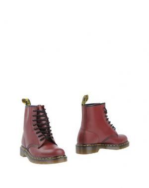Полусапоги и высокие ботинки DR. MARTENS. Цвет: красно-коричневый