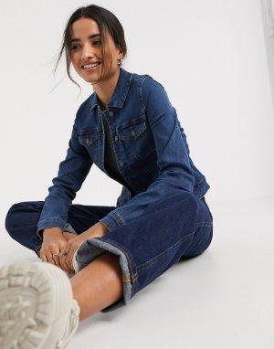 Синяя джинсовая куртка -Голубой Vero Moda