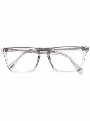 Очки Bernardo-R в квадратной оправе Oliver Peoples. Цвет: серый