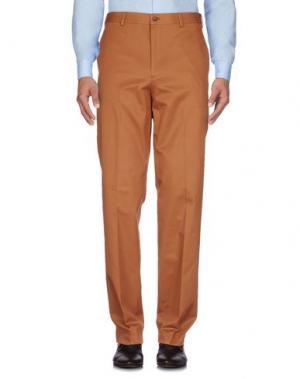 Повседневные брюки BROOKS BROTHERS. Цвет: коричневый