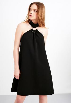Платье Lost Ink METAL RING SWING DRESS. Цвет: черный