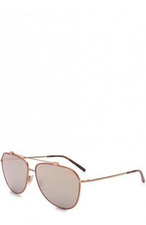 Солнцезащитные очки Dolce & Gabbana. Цвет: золотой