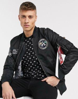 Нейлоновая двусторонняя куртка‑авиатор в стиле MA-1 от -Черный Alpha Industries