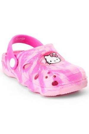 Туфли открытые Hello Kitty. Цвет: розовый, фуксия