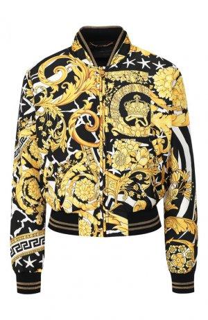 Бомбер Versace. Цвет: черный